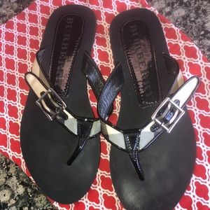 Burberry Sandals Lancaster with Nova Check Pattern